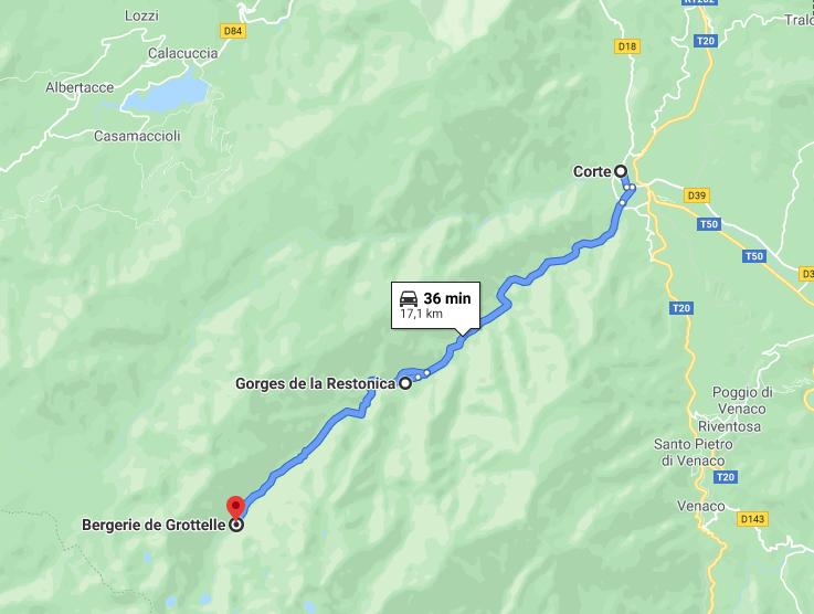 Itinerario in Corsica: Corte - Gorges de la Restonica