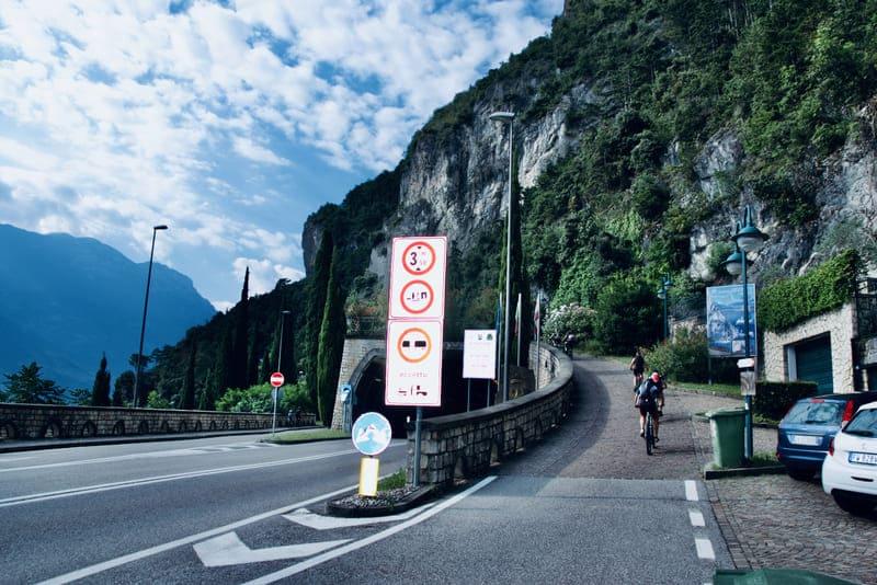 L'inizio del Sentiero del Ponale a Riva del Garda